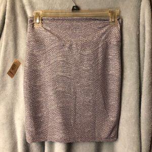 Decree lilac and silver metallic mini skirt. Sz Sm